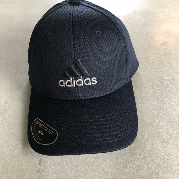 4be1f033 Adidas Stretch Fit Climalite Baseball Cap/Hat S/M NWT